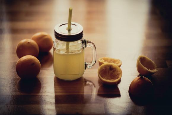 zumo de naranja o fruta