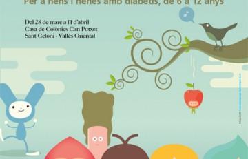 Poster de difusión de las colonias de Semana Santa para niños y niñas con diabetes - ADC