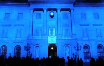 Ajuntament de Barcelona de color blau