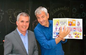 Carlos Sobera apadrina un cómic sobre la diabetes infantil