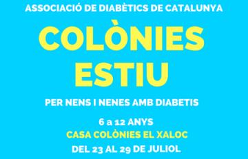 colònies d'estiu per a nens i joves amb diabetis