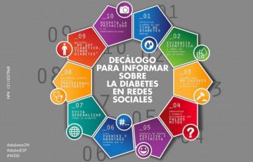 Decálogo sobre el manejo de la diabetes en redes sociales