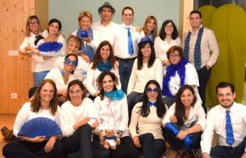De blau, en el Dia Mundial de la Diabetis