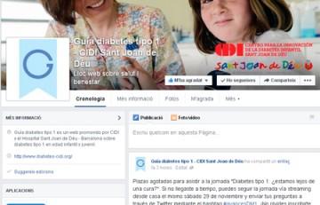 Pàgina de Facebook de Guia diabetis tipus 1