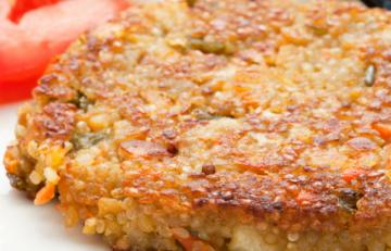 Hamburguesa de quinoa y verduras