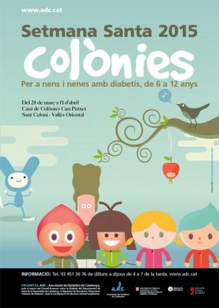 Pòster de difusió de les colònies de Setmana Santa per a infants amb diabetis - ADC