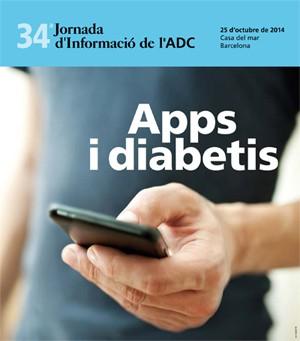 Cartel de la Jornada de información de la ADC 2014: Apps y diabetes