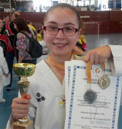 Marta, medalla d'or en taekwondo