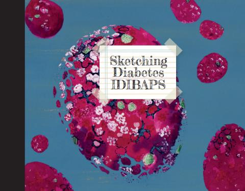"""Portada del libro """"Sketching Diabetes IDIBAPS"""""""