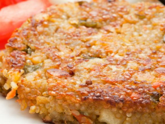 Hamburguesa de quinoa i verdures